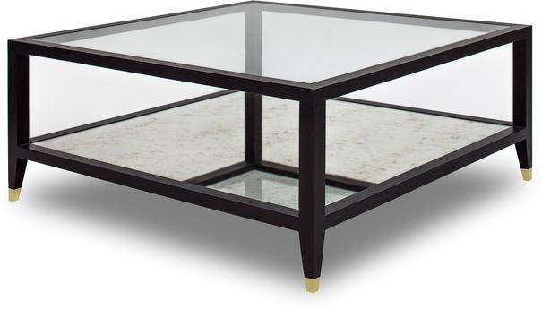 Milton Wenge Oak/Antique Mirror Coffee Table image 5