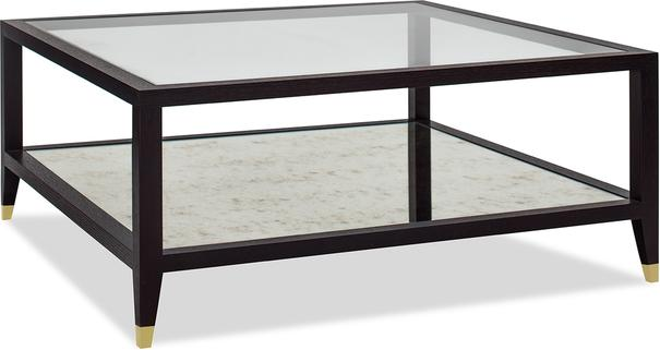 Milton Wenge Oak/Antique Mirror Coffee Table image 6