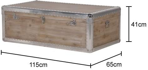 Alpine Chic Wood and Metal Coffee Table Trunk image 2