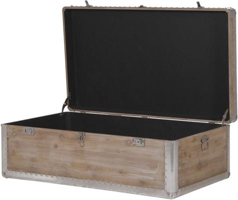 Alpine Chic Wood and Metal Coffee Table Trunk image 3