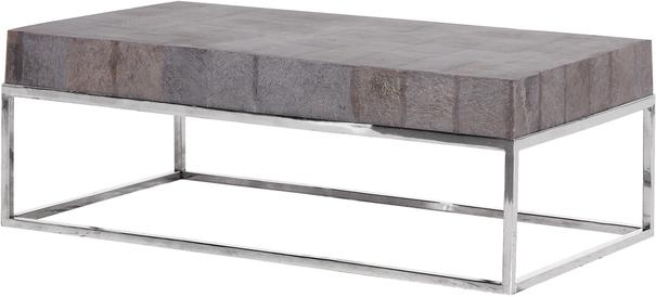 Metal and Slate Coffee Table