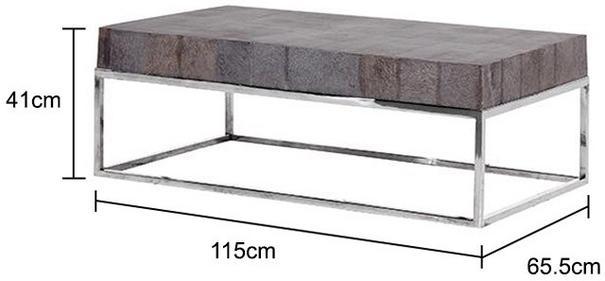 Metal and Slate Coffee Table image 2
