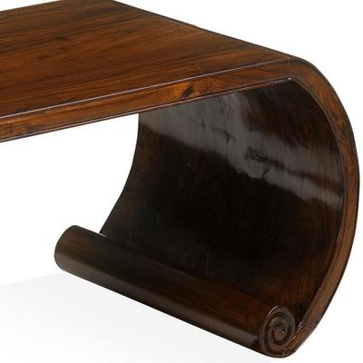 Low Scroll Table, Warm Elm image 4