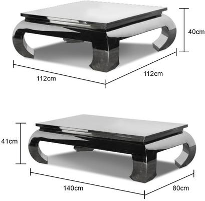 Chunky Metallic Coffee Table (Two Sizes) image 2