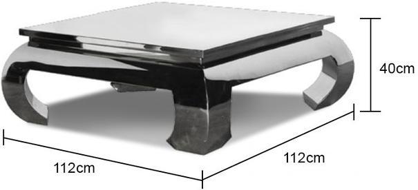 Chunky Metallic Coffee Table (Rectangular) image 4