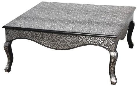 Dark Embossed Coffee Table