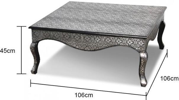 Dark Embossed Coffee Table image 2
