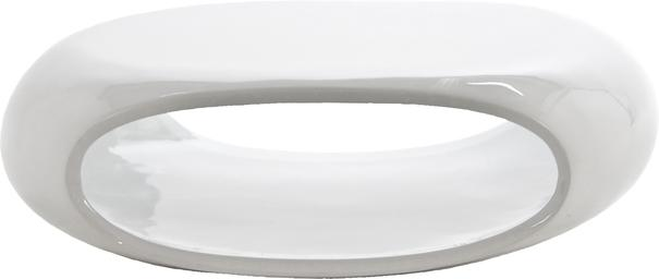 Eliptical Contemporary White Gloss Coffee Table
