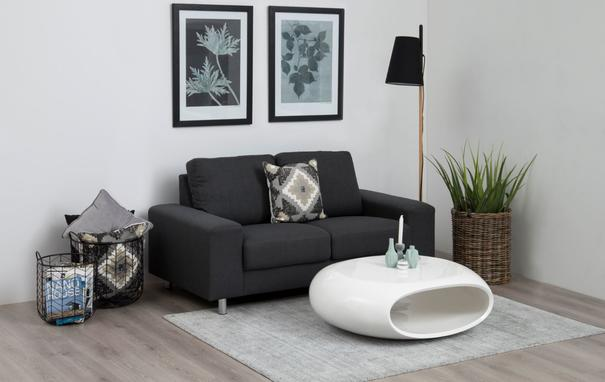 Eliptical Contemporary White Gloss Coffee Table image 4