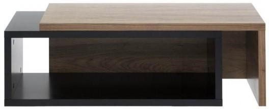 TemaHome Jazz Modern Coffee Table Black Lacquer and Walnut