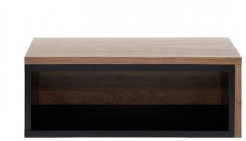 TemaHome Jazz Modern Coffee Table Black Lacquer and Walnut image 2