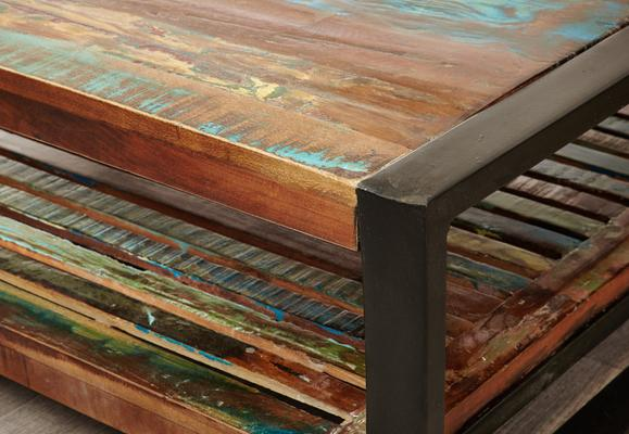 Shoreditch Square Coffee Table Reclaimed Wood image 5