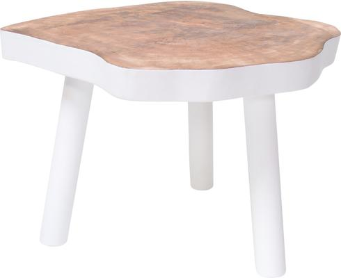 Mango Wood Coffee Table White image 2