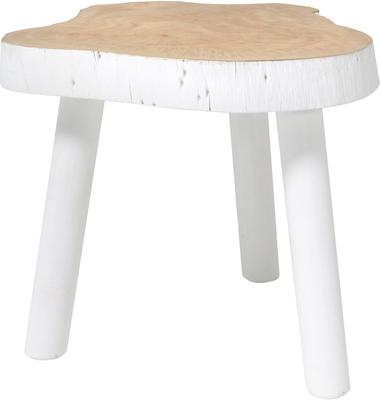 Mango Wood Coffee Table White image 5