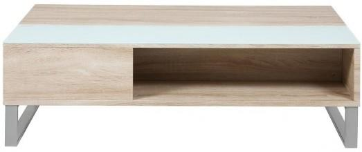 Azalea Storage Coffee Table Oak or White Gloss image 2