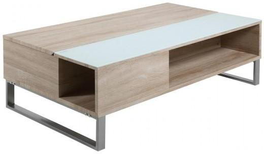 Azalea Storage Coffee Table Oak or White Gloss image 4