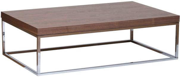TemaHome Prairie Rectangular Coffee Table - Walnut with Metal Frame