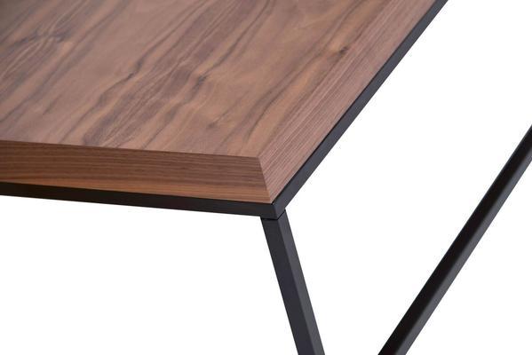 TemaHome Prairie Rectangular Coffee Table - Walnut with Metal Frame image 4