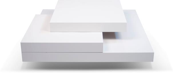 TemaHome Slate Coffee Table 3 Level - Matt White, White and Oak or Concrete