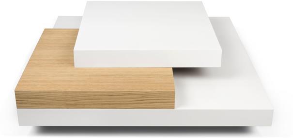 TemaHome Slate Coffee Table 3 Level - Matt White, White and Oak or Concrete image 2