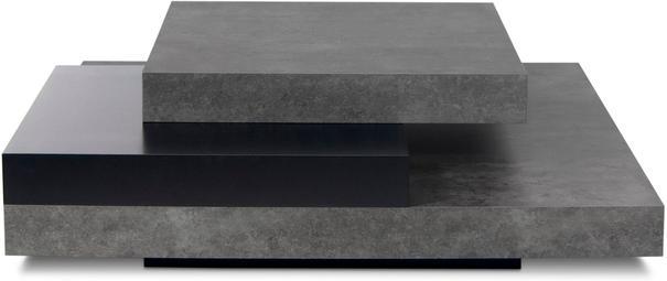 TemaHome Slate Coffee Table 3 Level - Matt White, White and Oak or Concrete image 3