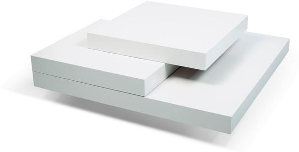 TemaHome Slate Coffee Table 3 Level - Matt White, White and Oak or Concrete image 4