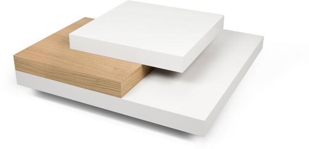 TemaHome Slate Coffee Table 3 Level - Matt White, White and Oak or Concrete image 5