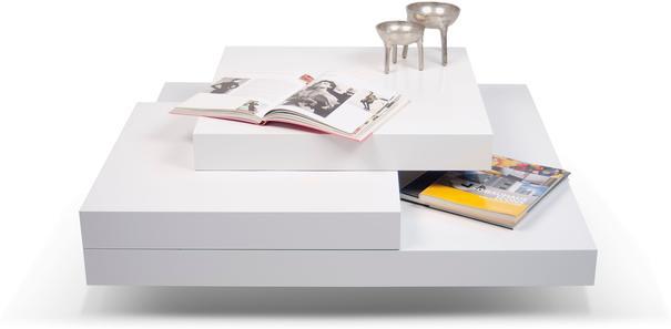TemaHome Slate Coffee Table 3 Level - Matt White, White and Oak or Concrete image 7