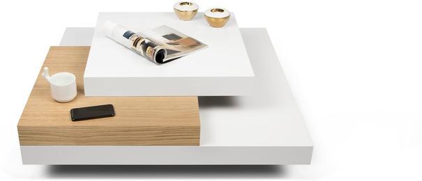 TemaHome Slate Coffee Table 3 Level - Matt White, White and Oak or Concrete image 8