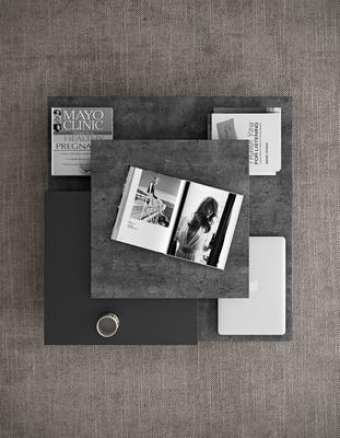 TemaHome Slate Coffee Table 3 Level - Matt White, White and Oak or Concrete image 9