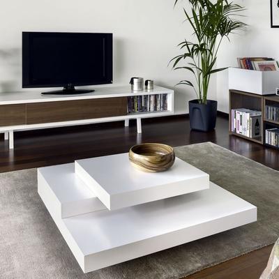 TemaHome Slate Coffee Table 3 Level - Matt White, White and Oak or Concrete image 11
