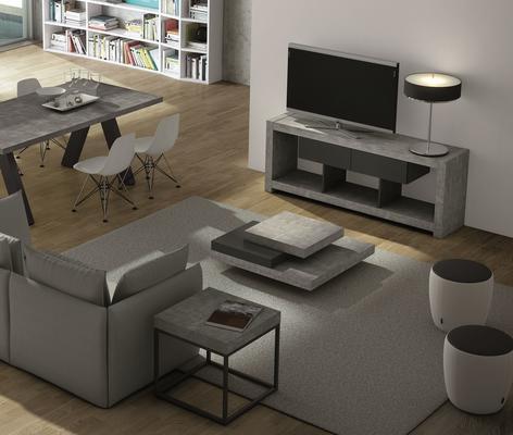TemaHome Slate Coffee Table 3 Level - Matt White, White and Oak or Concrete image 18