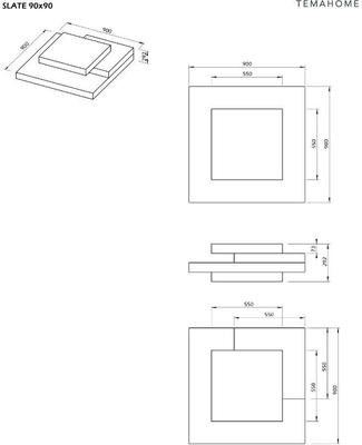 TemaHome Slate Coffee Table 3 Level - Matt White, White and Oak or Concrete image 20