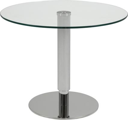 Sortelli Adjustable Coffee Table Glass Top and Steel Base