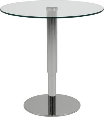 Sortello Adjustable Coffee Table Glass Top and Stainless Steel Base image 2