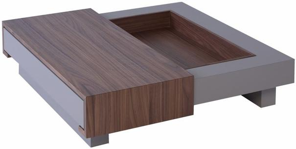 Marlow Contemporary Coffee Table - Matt Stone Lacquer image 3