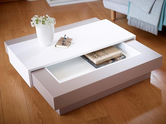 Marlow Contemporary Coffee Table - Matt Stone Lacquer image 6