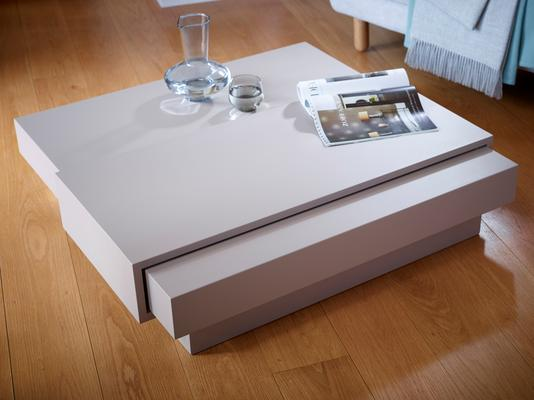 Marlow Contemporary Coffee Table - Matt Stone Lacquer image 9