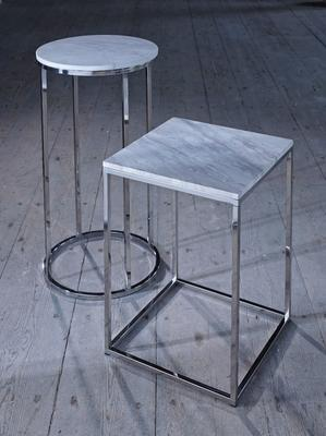 Kensal Rectangle Coffee Table Marble Top with Steel or Brass Base image 5