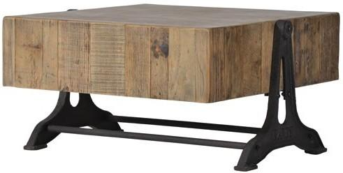 Blockwood Coffee Table Industrial Bleached Pine image 2