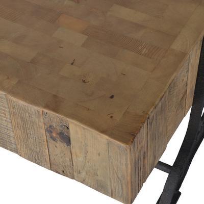 Blockwood Coffee Table Industrial Bleached Pine image 3