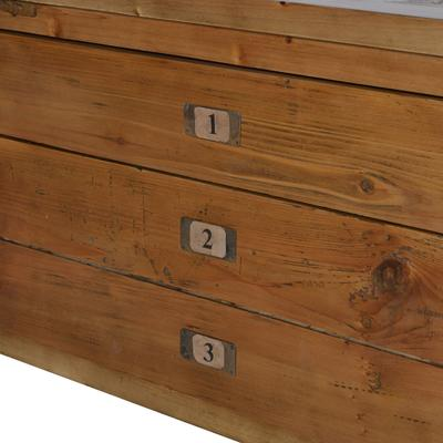 Three Drawer Coffee Table in Recycled Elm image 5
