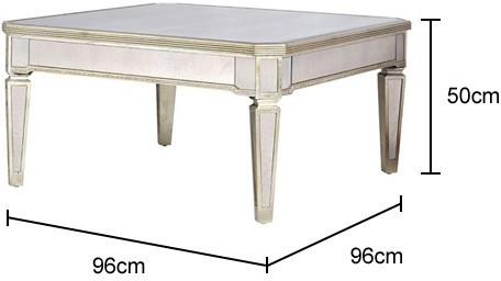 Venetian Mirrored Square Coffee Table image 2