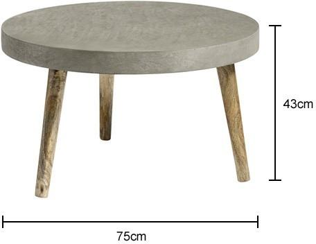 Three Leg Industrial Concrete Coffee Table image 2