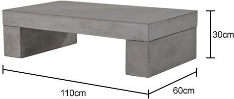 Rectangular Concrete Coffee Table image 2