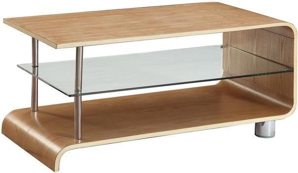 Jual Modern Curved Coffee Table BS203 in Ash or Walnut