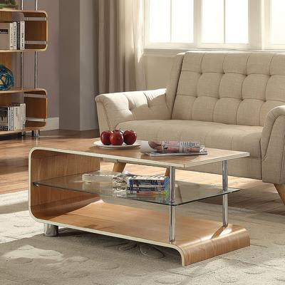 Jual Modern Curved Coffee Table BS203 in Ash or Walnut image 2