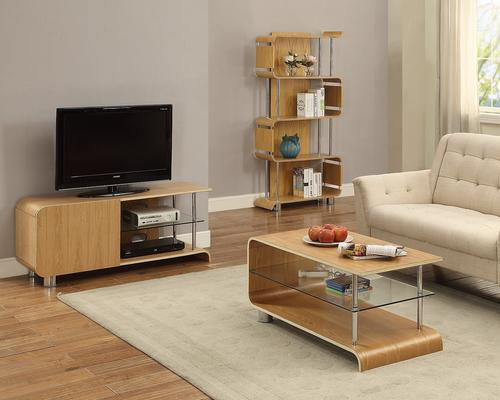 Jual Modern Curved Coffee Table BS203 in Ash or Walnut image 3