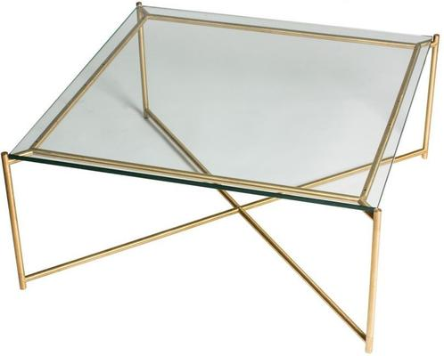 Iris Square Coffee Table Clear Glass Top image 12