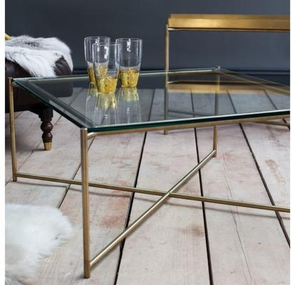 Iris Square Coffee Table Clear Glass Top image 18